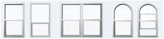 single hung window configurations
