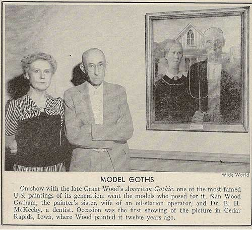 actual models from american gothic painting